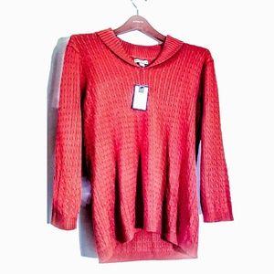 **NWT**Coldwater Creek Orange Size Large Sweater